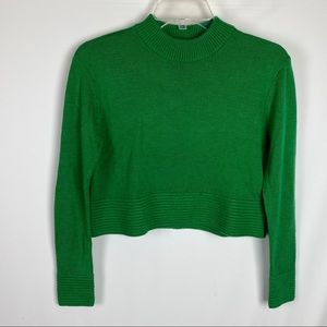 Topshop Sweater Cropped Acrylic Cashmere Blend